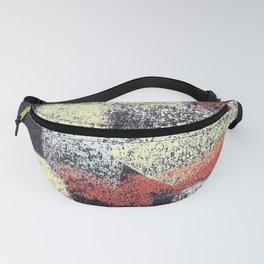 Multicolor abstract black Fanny Pack