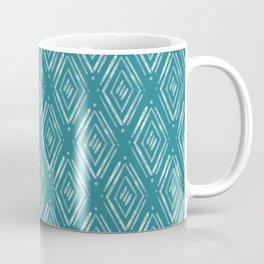 Watercolor Diamonds <> Turquoise Coffee Mug