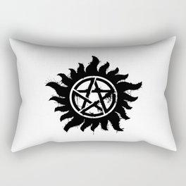 Anti-Possession Symbol Dark (Splatter) Rectangular Pillow