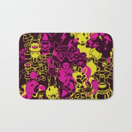 Dream Factory Pink and Yellow Bath Mat