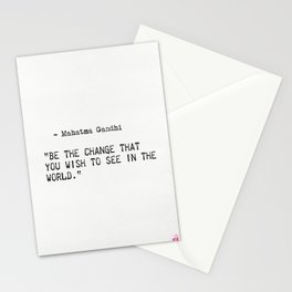 Mahatma Gandhi quote Stationery Cards