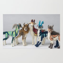 Fantastic Felted Beasts Rug