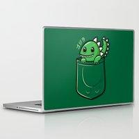 pocket Laptop & iPad Skins featuring Pocket Godzilla by fishbiscuit