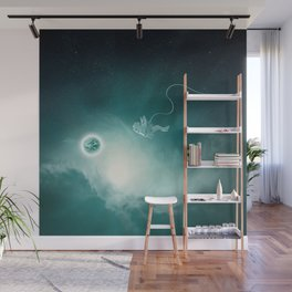 Astronaut Cast Away in Space Wall Mural