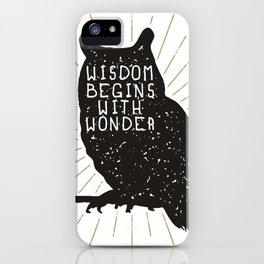 Owl Wisdom iPhone Case