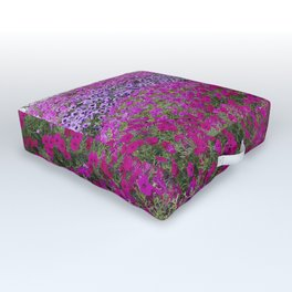 Waves of color on a sea of Petunias Outdoor Floor Cushion