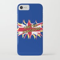 union jack iPhone & iPod Cases featuring Union Jack by mailboxdisco