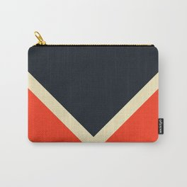 Black White And Red Colorful Retro Style Stripes Bast Carry-All Pouch