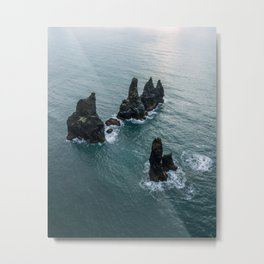Sea stacks on the Icelandic Coast near Vik - Landscape Photography Metal Print