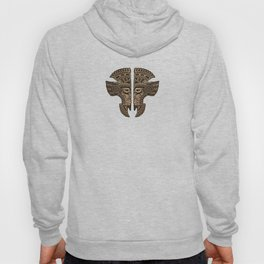 Stone Aztec Twins Mask Illusion Hoody