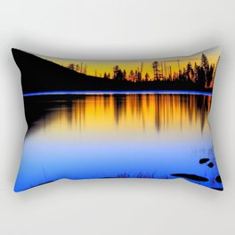 Silver ,Blue,and Gold.. Rectangular Pillow