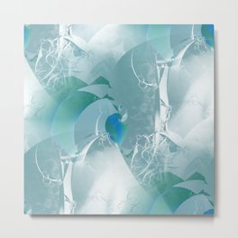 Abstract with hints of natural Metal Print