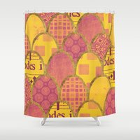 scales Shower Curtains featuring Scales by Sweet Colors Gallery