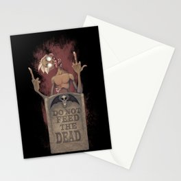 DO NOT FEED THE DEAD Stationery Cards