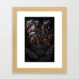 """Faces In Dark Water"" Framed Art Print"