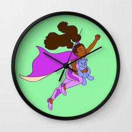 Power Girl Wall Clock