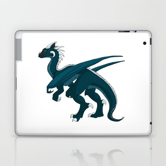Teal Dragon Laptop & iPad Skin