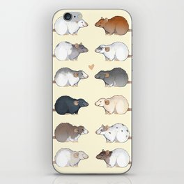 Rat colors and markings  iPhone Skin