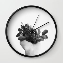 INDOOR GARDEN N3 B&W Wall Clock
