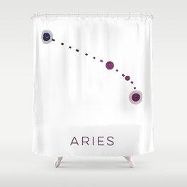 ARIES STAR CONSTELLATION ZODIAC SIGN Shower Curtain