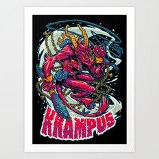 BEWARE THE KRAMPUS Art Print