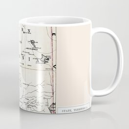 Northern California Map 1866 Coffee Mug