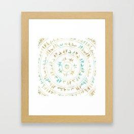 Kama Sutra Mandala Blue and Gold Framed Art Print
