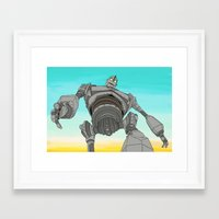 iron giant Framed Art Prints featuring Iron Giant by 117 Art