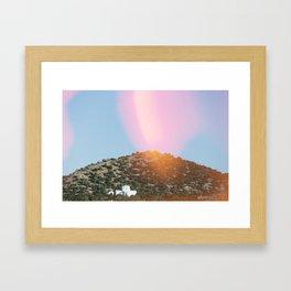 Religious Hill Framed Art Print