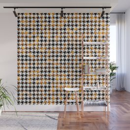 Houndstooth Flames of Plasma Pattern Wall Mural