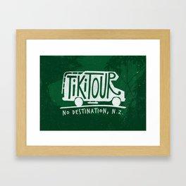 Tiki Tour Framed Art Print