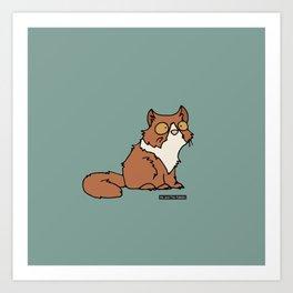 Cat - persian cat Art Print
