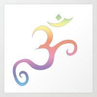 Rainbow Aum Art Print