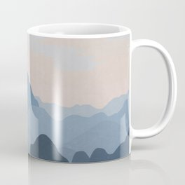 Pastel Sunset over Blue Mountains Coffee Mug