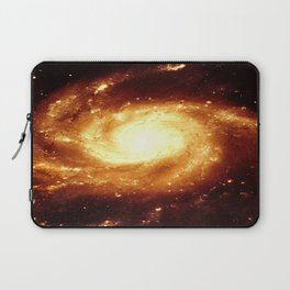 Golden Spiral Galaxy Laptop Sleeve