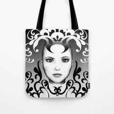 Black and white ornamental joker Tote Bag