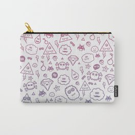 Cute & Sweet Monsters / Funny Clouds and Diamonds Carry-All Pouch