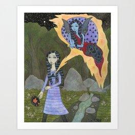 Followed By an Interdimensional Girl Art Print