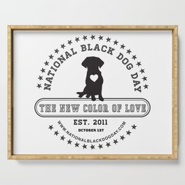 Black Dog Day Official Logo Serving Tray