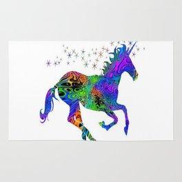 colorful unicorn stars Rug
