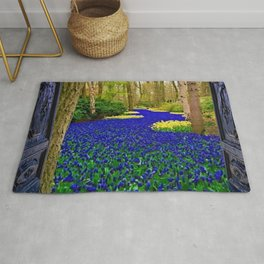'The Secret Door at the Back of the Wardrobe' Magic Realism Portrait Rug