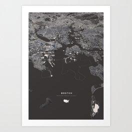 Bosston - City Map I Art Print