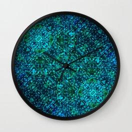 AZURE - watery crystal pattern Wall Clock