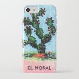 El Nopal Mexican Loteria Bingo Card iPhone Case