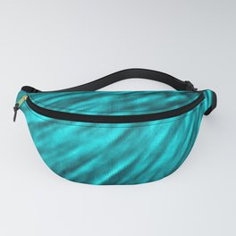 Teal Pixel Wind Fanny Pack