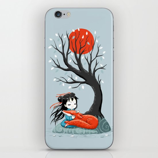 Girl and a Fox 2 iPhone & iPod Skin