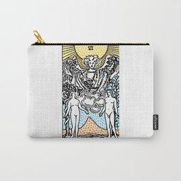 Modern Tarot Design - 6 The Lovers Carry-All Pouch