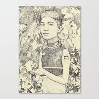 grimes Canvas Prints featuring grimes by withapencilinhand