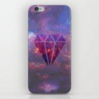 diamond iPhone & iPod Skins featuring Diamond by eARTh