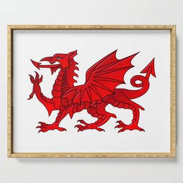 Welsh Dragon With a Bevel Effect Serving Tray